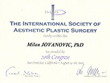 Surgeon's diploma – 20 ISAPS Congress, San Francisco
