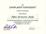 Surgeon's diploma – Liposuction course