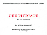 Surgeon's diploma – Dermoscopy certificate