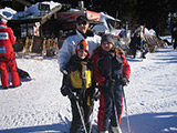 Kopaonik skiing, wife and children, 2007