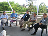 One of the best expert discussions on the terrace Galathea, 2005, Luiz S. Toledo ‐ Brazil, Daniel Baker ‐ USA, Ithamar Stocchero ‐ Brazil, Daniel Marchac ‐ France, Bruce Connelli, USA