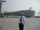 Beijing - National Stadium (Bird's Nest) where Olympic games took place in 2008